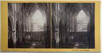 Cattedrale di York Interno UK Fotografia Stereo Vintage Albumina