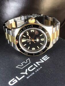 GLYCINE Combat Sub Vintage Men's Diver Automatic 25J Watch GL0259 WR200m Ø42mm