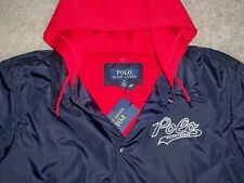RARE POLO RALPH LAUREN Two-in-One Jacket w/Waffle Lining M NAVY BLUE w/POLO $185