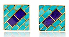 Women's Museum Quality Natural Sugilite & Turquoise 14k SOLID Gold Earrings