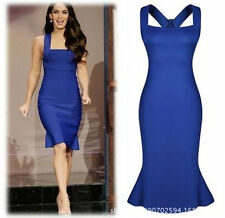 Abito a cono aperto Womens ladies midi open dress party bodycon club XL