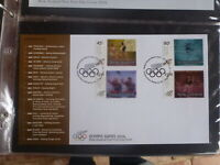 NEW ZEALAND 2004 OLYMPIC GAMES SET 4 HOLOGRAM STAMPS FDC FIRST DAY COVER