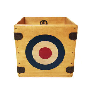 """Mod Target Record Box 7"""" Single Boxes Wooden Crate Records The Who Jam"""
