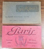 Lot Of (2) Vintage WWI Era French Postcards - Verdum, Military Etc (PC7)