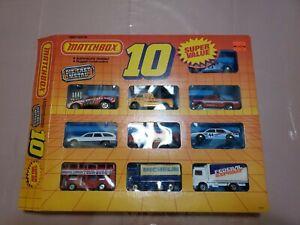VINTAGE 1989 MATCHBOX SUPER VALUE 10 PACK  MOTORCITY PLAY SET #0110