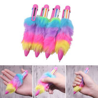 Gel Pen Ballpoint Colorful Plush Writing School Office Stationery Student Gift