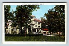 Montgomery AL, Masonic Home, Linen Alabama Postcard X10