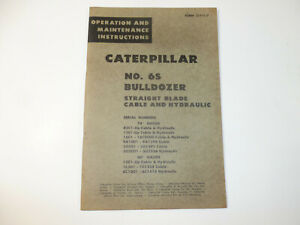 CAT Caterpillar 6S OPERATION & MAINTENANCE MANUAL BULLDOZER BLADE, D6 TRACTOR
