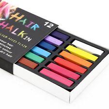 Coloración Cabello Temporal Cabello Tiza Color pasteles suaves Kit De Salón 12