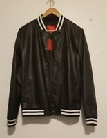 Mens Guess Faux leather Bomber Jacket Xs (NWT)