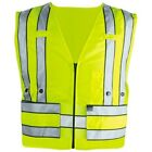 BLAUER 343 Front Breakaway Safety Vest Hi-Vis Yellow Sm/Med ANSI 107-2015 Type 2