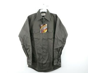 NOS Vintage 70s Montgomery Ward Mens Small Double Pocket Work Shirt Green USA