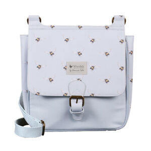 Wrendale Designs Powder Blue Bee Satchel Bag - Modern Bee Satchel Bag Gift Idea
