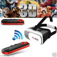 VR BOX Virtual Reality 3D Glasses Bluetooth Game Remote Control For Galaxy Note7