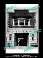 OLD HISTORIC PHOTO OF LOS ANGELES FIRE DEPARTMENT, THE No 16 ENGINE STATION 1920