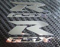 2 Chrome GSXR GSX R Fairing Decals Stickers suzuki 600 750 1000 Bike Moto GP