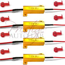 4x 50W 8ohm High Power Load Resistor LED Bulb Turn Signal Blinker Flash Flicker
