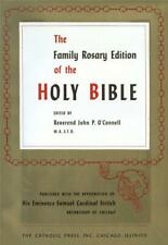 Holy Bible, O'Connell, Family Rosary Edition, Catholic Bible Published in 1953,