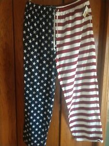 Men's All American Flag Sleep Pant Red, White & Blue XL Croft $ Barrow NWT