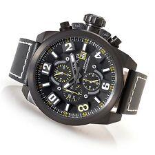 Invicta 50mm Corduba Edge18995 Chron Leather Strap Watch w/ one Slot Dive box