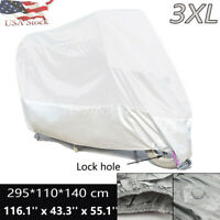 """MOTORCYCLE COVER FITS UP TO 107/"""" LENGTH CRUISER TOURING BIKE DUST TRAVEL COVER"""