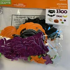 Halloween Crafts Foam Stickers 5 Package of 126 pieces each New