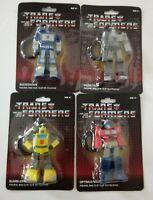 4 Transformers Figural Bag Clip Megatron Optimus Prime Soundwave Bumblebee
