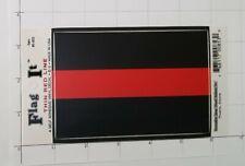 Thin Red Line Decal Firefighter Fireman Sticker EMT Department Ladder Safety
