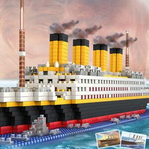 1860pcs TITANIC Ship DIY Building Blocks Toys Boat Block Model Building Bricks
