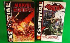 Essential Marvel Horror Vol. 1 & Tomb of Dracula Vol. 3, Lot of 2 Marvel TPB