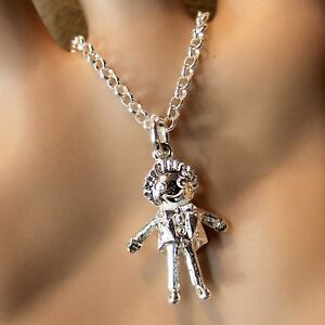 new sterling silver doll pendant & chain