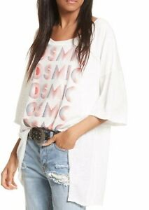 WE THE FREE Cosmic Oversized Tee, White, US Size Small, NWOT [RRP $85]