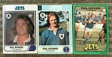 scanlens Paul Hayward cards x 3 - 1976, 1977, 1978 - Newtown jets