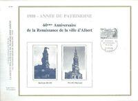 FEUILLET PHILATELIQUE 1980 ANNEE DU PATRIMOINE             ALBERT
