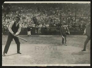 "1927 Jack Dempsey, ""Boxing Legend on the Baseball Diamond"" Sweeping Photo"