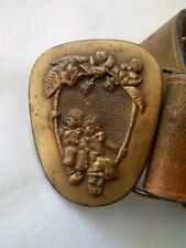 Vintage Raggedy Ann Andy Indiana Metal Craft Brass Belt Buckle 1976 898