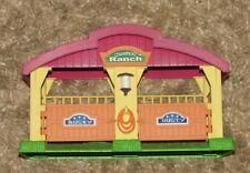 Toy plastic animal barn