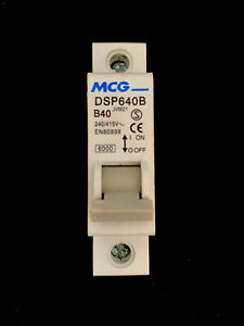 MCG B40 40 Amp Type B Single Pole MCB DSP640B Brand New