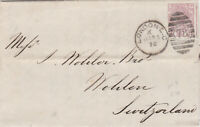 1876 QV LONDON LETTER WITH A 2½d ROSY MAUVE STAMP PLATE 2 SENT TO SWITZERLAND
