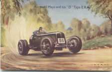 Raymond Mays and his D Type ERA Racing Car Art card by Photochrom - Ward