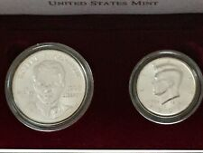 1998 2 COIN KENNEDY RFK JFK 90/% SILVER MATTE AND UNC SET LOW MINTAGE #4051