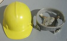 Vintage JACKSON PRODUCTS FIBERGLASS HARD HAT with Original Liner YELLOW