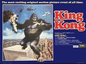 """KING KONG 1976 repro UK quad poster 30x40"""" FREE P&P rare poster"""