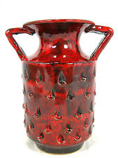 """60´s """"Alla Moda"""" Fratelli Fanciullacci design jug vase glossy red glaze 781 / 15"""