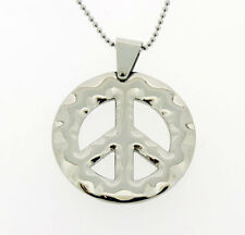 Peace Pendant in Stainless Steel