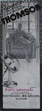 PUBLICITE THOMSON RADIATEUR ELECTRIQUE PARABOLIQUE CHAT DE 1929 FRENCH AD PUB