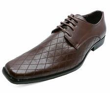 Para Hombre Marrón con Cordones Mocasines Inteligente Formal Boda Traje de Cuero Calado Zapatos de trabajo 6-11