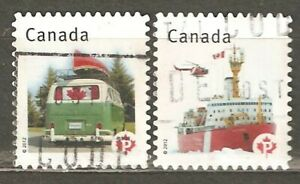 Canada: 2 used stamps of set, Canadian Flag, 2012, Mi#2782-3