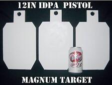 12in.Tall IDPA/IPSC Pistol Targets - 3/8in. Steel Targets - 3pc. Metal Plate Set