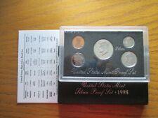 1998 S US Mint Silver Proof Set; 90% -  COA; Original Packaging
